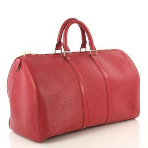 Louis Vuitton 872124 Red Epi Leather Keepall 45